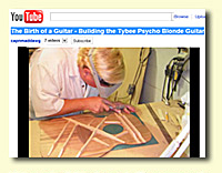 Michael Denmark building his Tybee Psycho Blonde Guitar with John S. Kinnard
