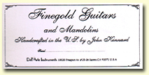 Finegold Guitar Label